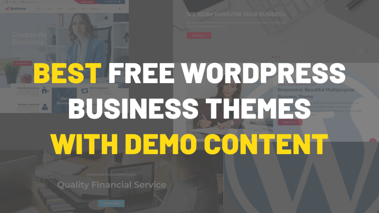 Free Wordpress Business themes with demo content 2019