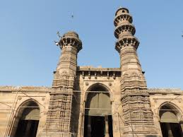 Jhulta Minar located in Ahmedabad's old city