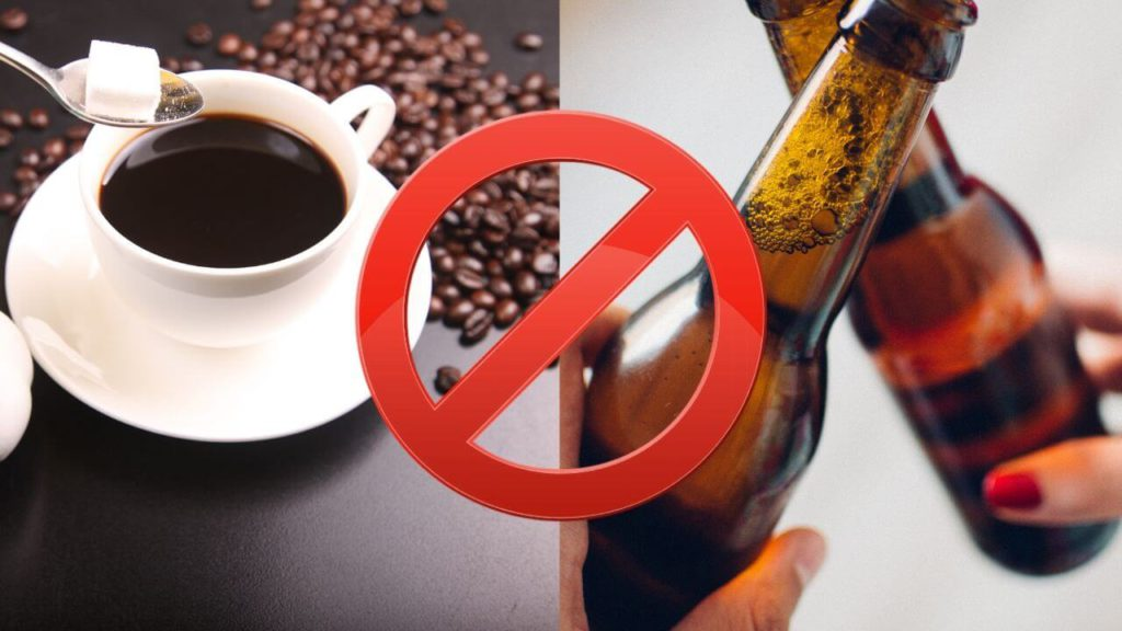 stop drinking coffee and alcohol