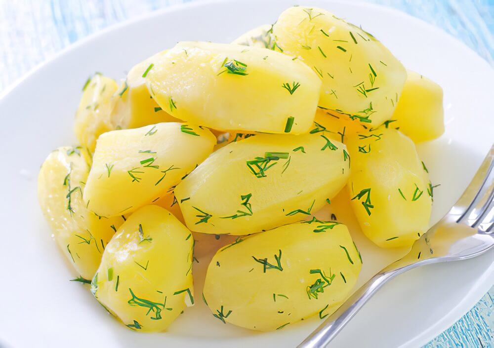 Boiled potatoes to lose belly fat