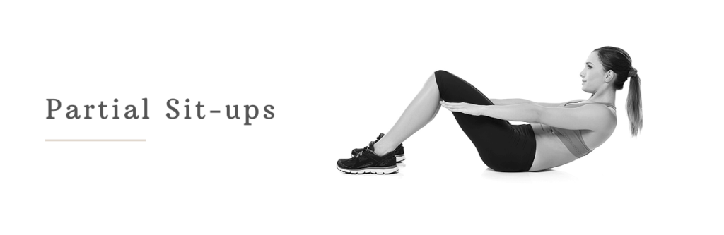 Partial sit-ups to lose belly fat in 3 days
