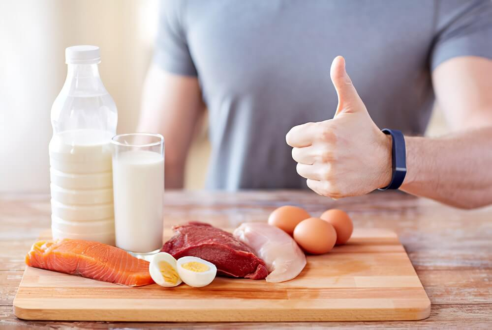Eat more protein-rich foods in your diet to grow beard