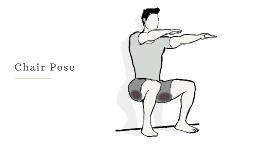 chair pose to reduce butt fat for men