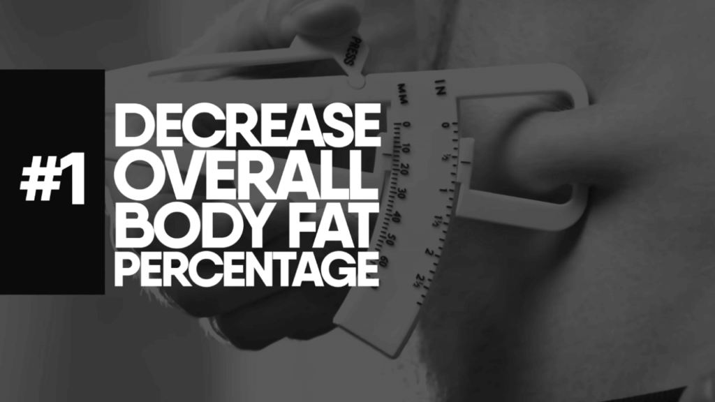 Decrease your overall body fat percentage to reduce chest fat
