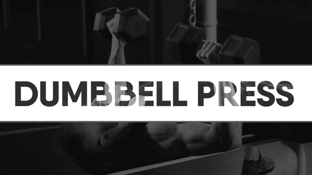 Dumbbell press to reduce chest fat