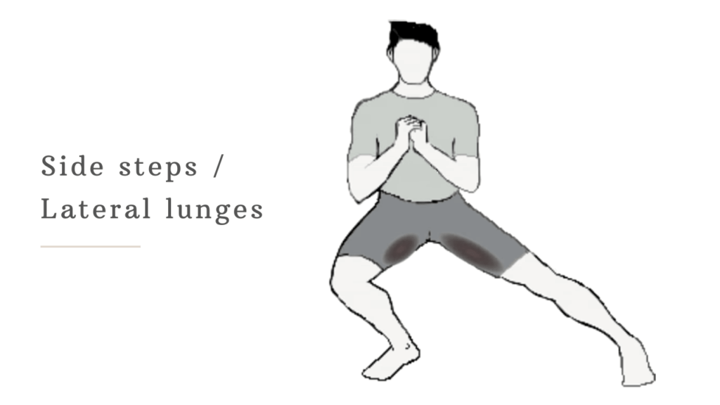 lateral lunges to reduce butt fat for men