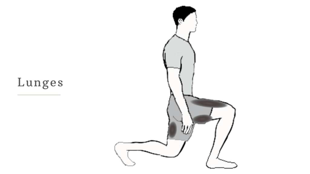 lunges to reduce butt fat for men