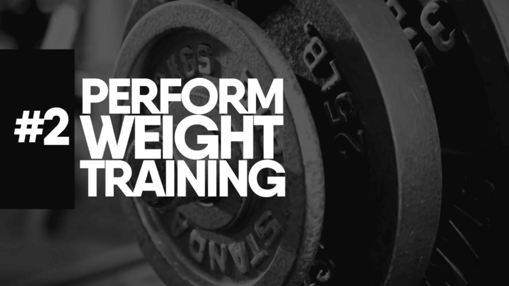 Perform weight training to reduce chest fat