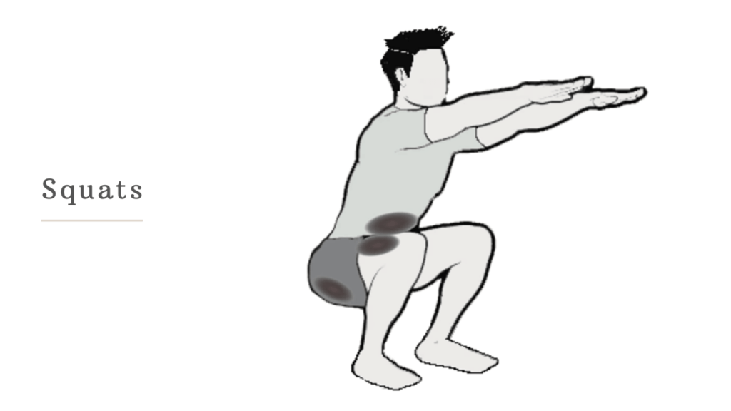 squats to reduce butt fat