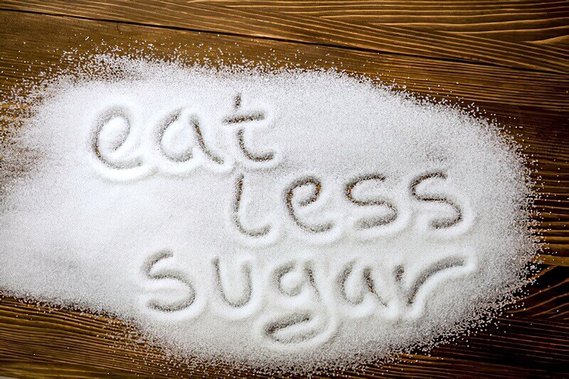less sugar intake