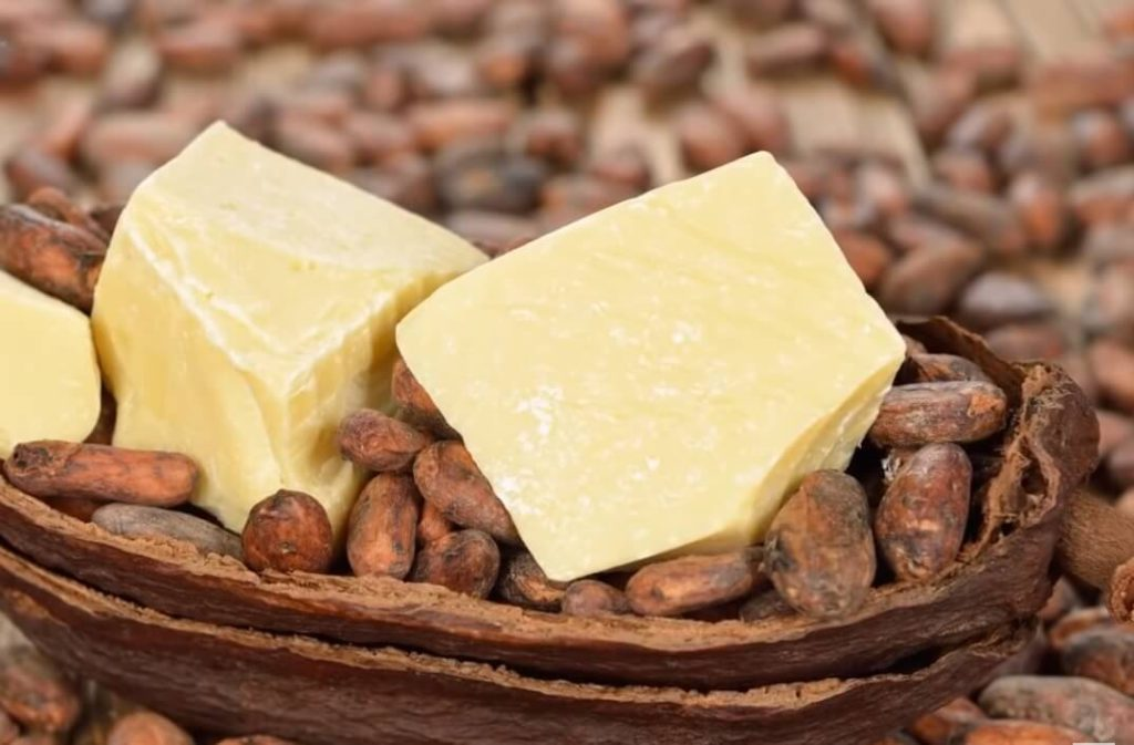 Cocoa butter helps lose your fat under the chin