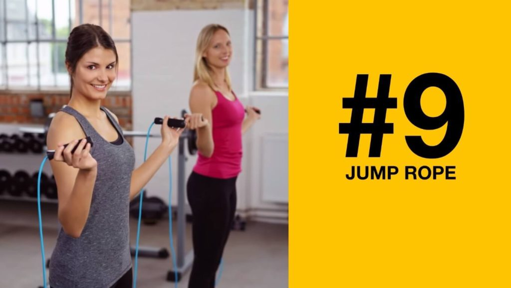 Jump rope exercise to burn leg fat