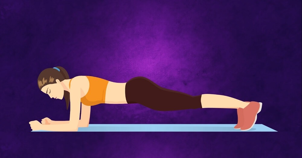 A traditional plank