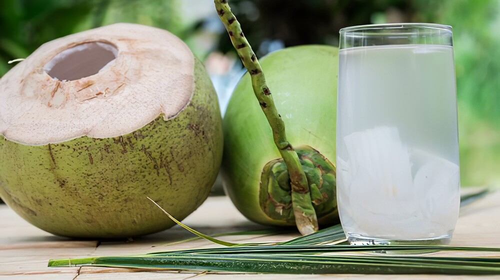 Coconut water (play a major role in glowing skin)
