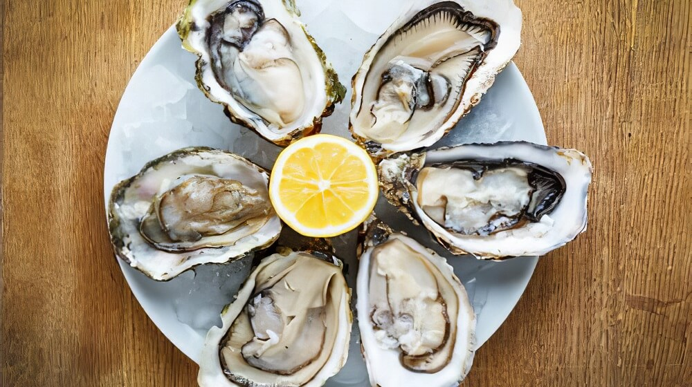 Oysters (filled with skin-repairing minerals)