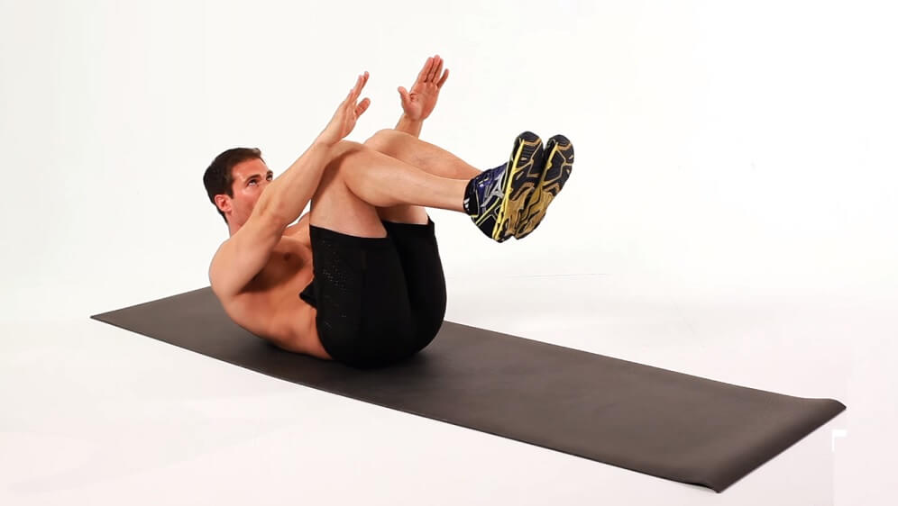 Jackknife exercise to strengthen the upper and lower abdominal muscles