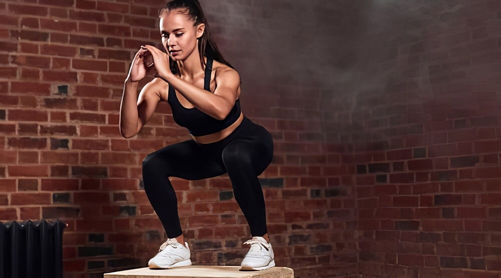 Jump Squats, open and closed exercise