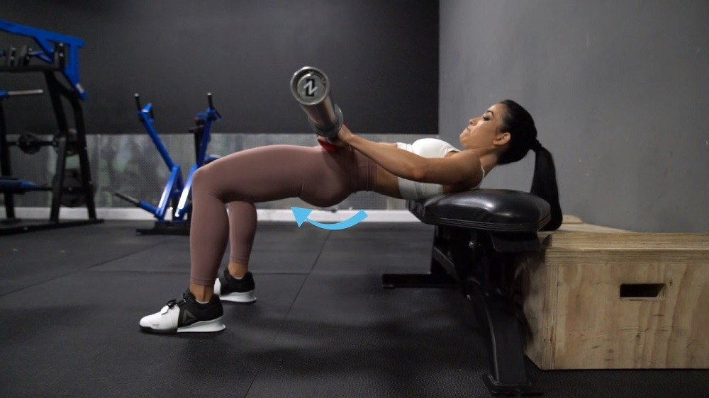 Extending the lower back instead of the glutes
