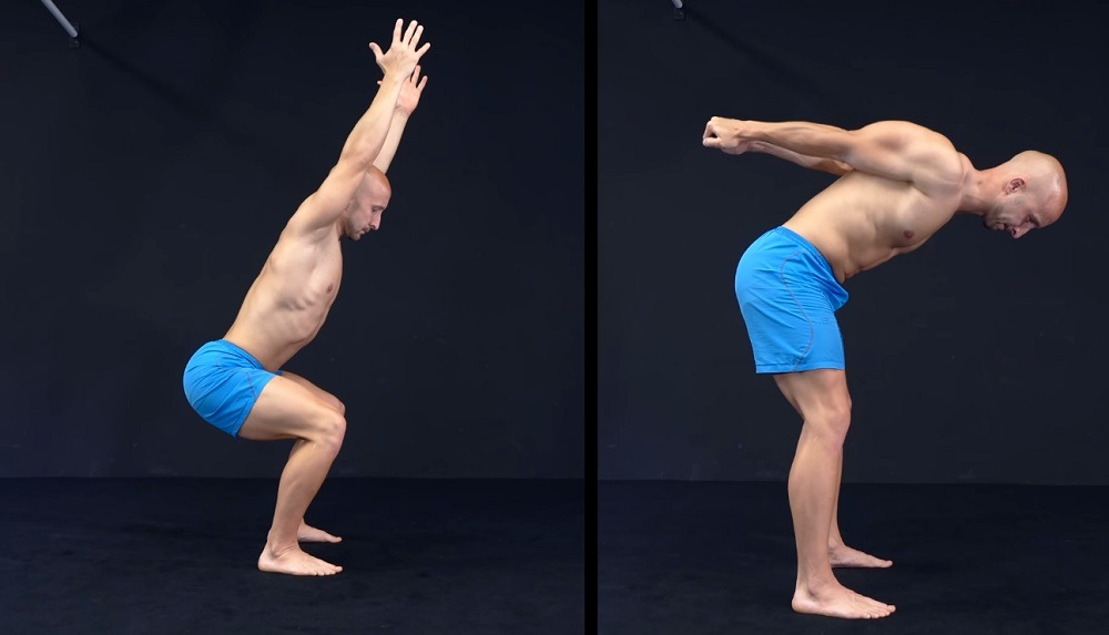 Shoulder-Squat stretches to do in the morning